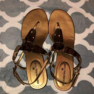 Montego Bay Club Gold/Copper Sandals